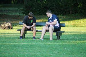Die Trainer diskutieren