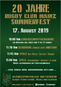 Plakat fürs Sommerfest